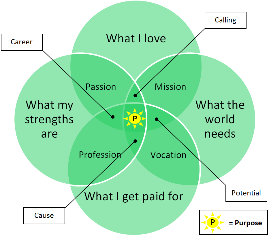 Purpose Venn Diagram Human Business