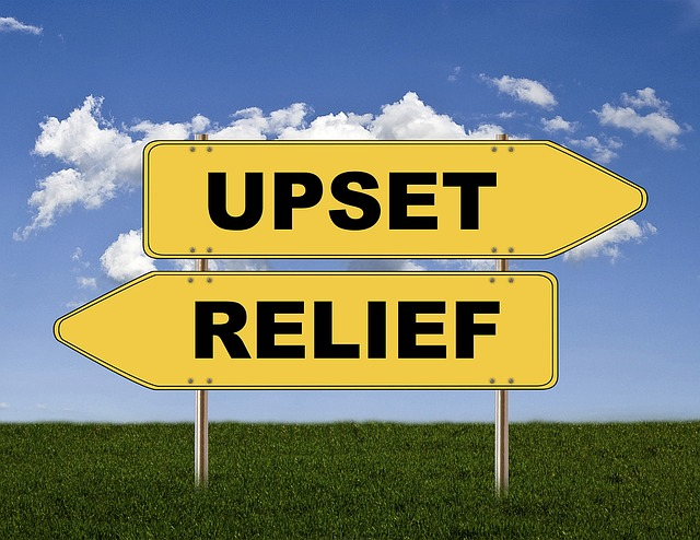 Being upset or searching relief?