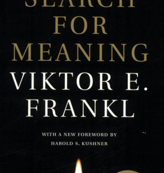 Man's search for meaning by Viktor Frankl cover